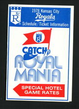 Kansas City Royals--1978 Pocket Schedule--Ramada Inn/Sheraton