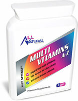All Natural Supplies A-Z MultiVitamins contain 25 Essential Vitamins & Minerals.