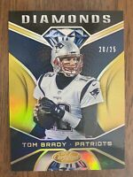 2019 Panini certified Tom Brady Diamonds Gold 20/25🔥 Base insert also included.
