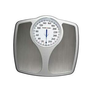 Bathroom Body Weight Scale Analog Mechanical Manual Weighing Oversize Dial Grey