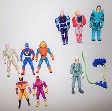 lot de9 figurines vintage héros dessins animés
