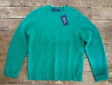 Ralph Lauren Saddle Shoulder Shetland Wool Jumper Size M