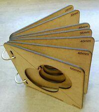 7 Moldes de DM para termoformar pies de #Fofuchas goma eva ,20~70 con Anillas