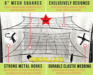 2-PACK Scrog Net for 3'x3' Grow Tents - Grow Tent Netting Trellis Net 3x3