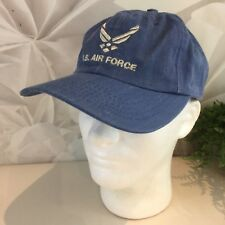 US Air Force Blue Baseball Hat Cross Into The Blue Adjustable EUC