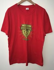 Men's Bright Red Round Neck Short Sleeve T-shirt Size XL Stedman<NH7672
