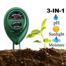 Neu 3 in 1 Boden Tester Kit Messer Messgerät Pflanze Blumen Gras PH Feuchtigkeit