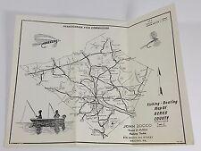 1969 Pennsylvania Fish Commission Berks County Map John Zocco Trains Hobbies