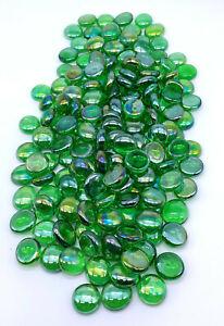 Iridescent Green .5 - .75 Inch Size Mega Marbles Mosaic Glass Gems Vacor Decor