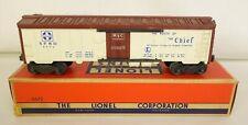 "LIONEL POSTWAR #6672 SANTA FE ""THE CHIEF"" REFRIGERATOR CAR-VG+ IN ORIG BOX!"