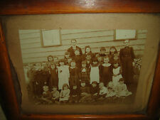 Antique Photograph Of School Children-Pre 1900 Photograph-One Room Schoolhouse