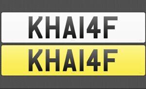 PRIVATE PERSONALISED NUMBER PLATE REG REGISTRATION SURNAME KHALAF KHA14F