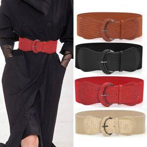 Women's fashion dress elastic stretch wide big cummerbunds corset waist Belt