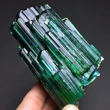 414g Amazing!!Big Natural Bright Green Tourmaline Gem Cluster Crystal Specimen