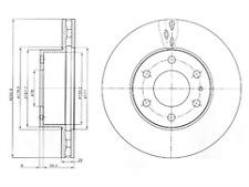 Delphi Delantero 2x Discos de Freno BG4100-venta de liquidación