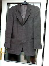 Van Kollem Men's Black Mix Wool Blend Suit Jacket Size EU52 Uk42 Pit to pit 23in