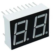 """2 x 0.56"""" Rosso 2 Cifre Display SETTE 7 Segmenti Anodo Comune LED"""