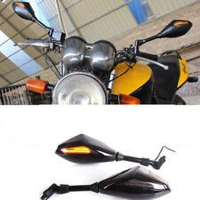 LED Motorcycle Rearview Mirrors For Honda Suzuki Kawasaki Yamaha Scooter Bike