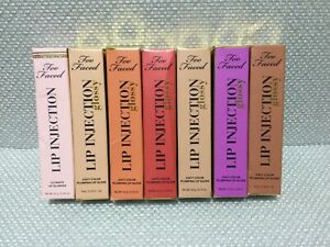 Too Faced Lip Injection Glossy Juicy Color Plumping Lip Gloss New Choose One