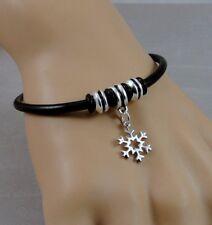 Snowflake Bracelet - Winter Snowflake Charm Bracelet - Christmas Jewelry NEW