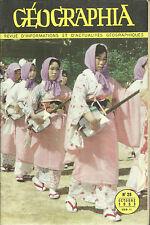 GEOGRAPHIA N° 25 + 1953 = PLANCTON + AMERIQUE LATINE + HONG-KONG + JAPON+ SUISSE