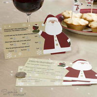 Christmas Scratch Card Trivia x 10 - Xmas Table Ice Breaker Cards / Party Game