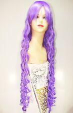 Parrucca Extra Lunga Mossa Boccoli Viola Lilla Lavanda- long purple curly wig