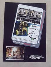 E947 - Advertising Pubblicità - 1985 - CASINO' MUNICIPALE DI VENEZIA