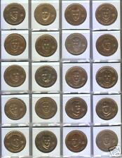 1969 New Orleans Saints Pro Player Doubloons Football Coin Set-24-Complete
