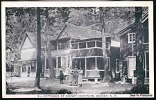 SIDNEY NY Institute Cottage Methodist? Vtg B&W Postcard