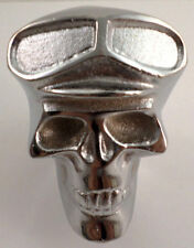 Skull Gear Shift Knob Chrome Plated Custom Fit Drill & Tap Yourself