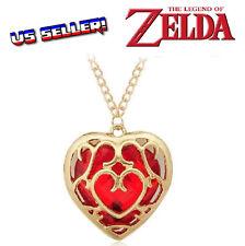 Legend Of Zelda Gold Red Heart Piece Container Necklace Skyward Sword Master