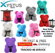 More details for rose teddy bear 25cm & 40cm foam valentines day & birthday & all occasions