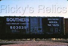 Original Slide SOU 503039 Boxcar Southern RR Tucson, AZ 1979