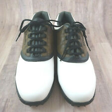 New listing FootJoy Greenjoys Golf shoes Brown and White Mens 11