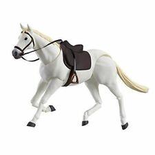 Hot 1/12 Scale Figure 6'' figma 246b White Horse PVC Animal Scene Model Toys