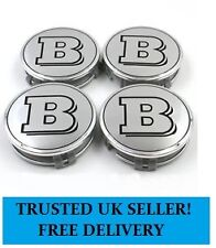 4x MERCEDES BENZ BRABUS CENTRE CAPS 75mm ALLOY WHEEL CENTER BADGES HUB EMBLEMS