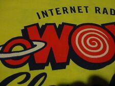 INTERNET RADIO Cleveland Ohio Station LOGO Rock ROLL Music Yellow T Shirt sz XL