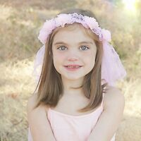 Pink Flower Fairy  Tiara Headband For Girls