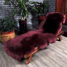100% Natural Sheepskin Rug Real Fur Single Pelt Lambskin Sofa Bed Mat Pad Carpet