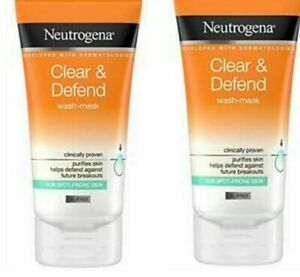 Neutrogena Clear & Defend Wash Mask 150ml.X2