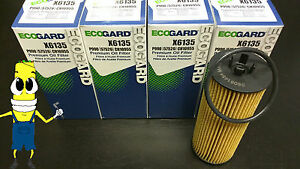Premium Oil Filter for Ram C/V with 3.6L Engine 2012 2013 Pack of 4