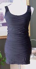 Forever 21 Black Stretch Knit Bandage Body Con Sheath Dress S