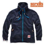 Scruffs Vintage Zip Thru Fleece Navy Jacket with Concealed Hood Size XXL