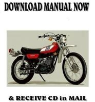 1976 Yamaha DT250B and DT400B factory repair service shop manual on CD