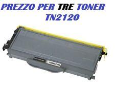 CARTUCCIA PER BROTHER DCP-7030 DCP-7032 HL-2170W HL-2170WR SET DA 3 TONER TN2120