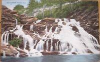 1940 Postcard: Salt Creek Falls - Anniston/Talladega, Alabama AL