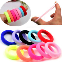50 Pcs Candy Color Hair Accessories Girls Kids Ponytail Holder Elastic Hair Band