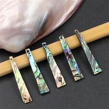 5pcs Natural Paua Abalone Shell Trapezoid Jewelry Diy Loose Beads Classic