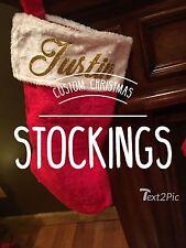 Personalized Stocking Custom Name Christmas Stockings